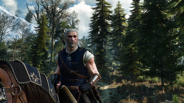 Road, Horse, Trees, The Witcher, The Witcher, Geralt, Medallion, The Witcher 3 Wild Hunt, The …