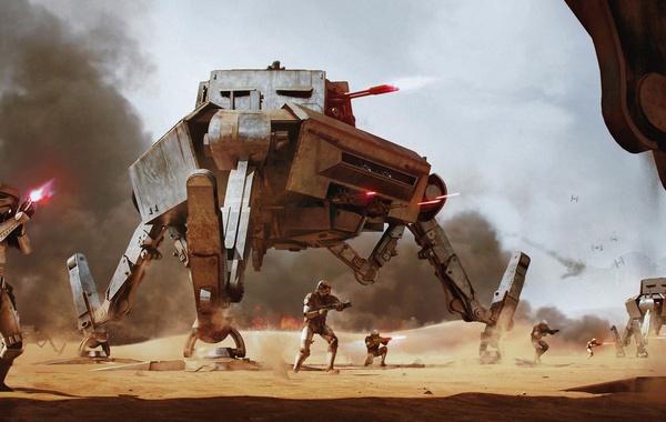 Star wars, Wojtek Fus, fantastic epic, AT-AP - All Terrain Attack Pod